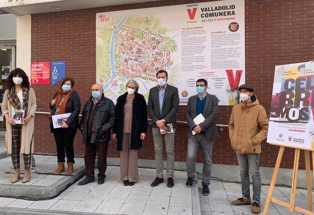Presentación de los nuevos paneles en los Centros Cívicos sobre la Valladolid Comunera.