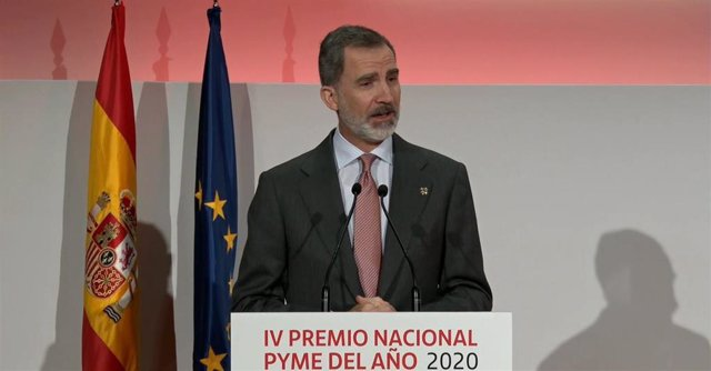 El Rey preside la entrega del Premio Pyme 2020