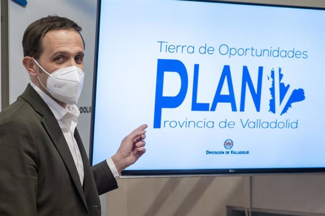 El Presidente De La Diputación De Valladolid Presenta El Nuevo Plan De Ayudas Para Los Ayuntamientos De La Provincia.