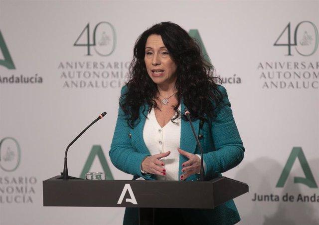 Archivo - La consejera de Igualdad, Políticas Sociales y Conciliación, Rocío Ruiz.
