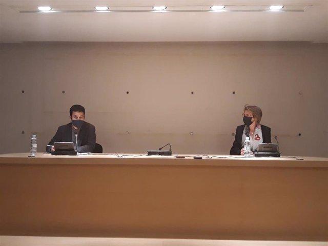 Vicent Marzà y Eva Alcón