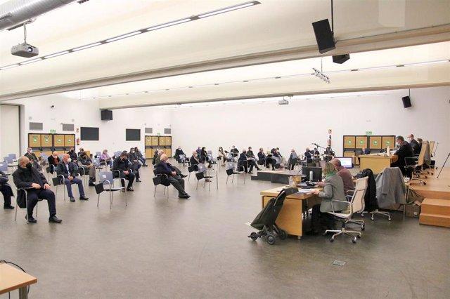 Archivo - Sala del macrojuicio del caso 'Poniente' en el Palacio de Congresos y Exposiciones de Aguadulce
