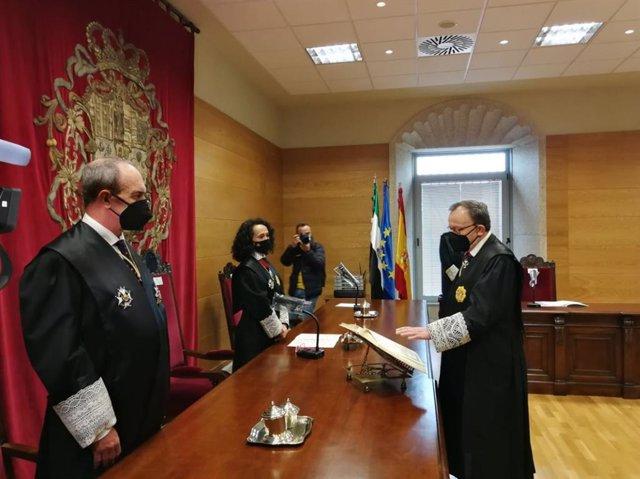 Toma de posesión del nuevo presidente de la Audiencia Provincial de Cáceres