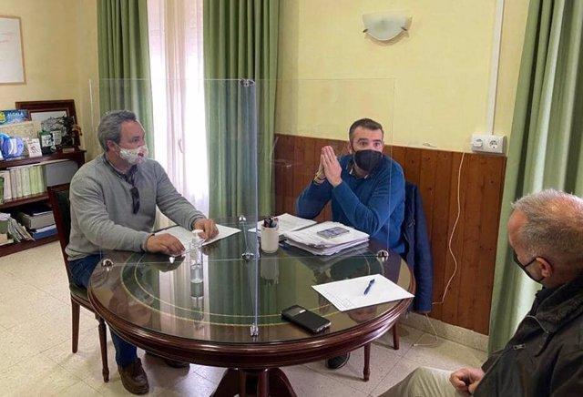 Pizarro con el alcalde de Paterna
