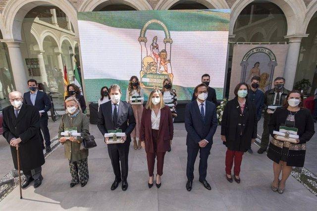 Entrega de las Banderas de Andalucía en Granada
