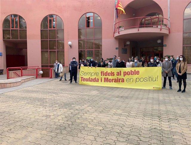 Concentración de Compromís y PSPV en Teulada-Moraira