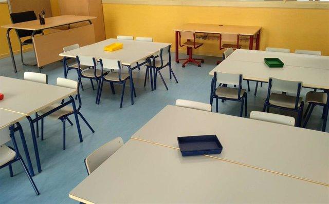 Archivo - Imagen de recurso de un aula en un colegio (archivo)