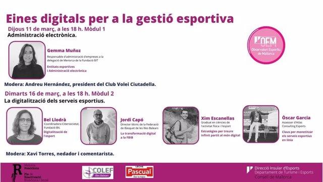 El Consell pone en marcha un nuevo seminario web titulado 'Herramientas digitales para la gestión deportiva'