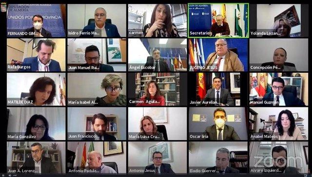 Pleno telemático de la Diputación de Almería