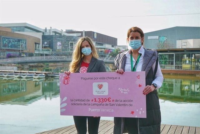 La Fundación Menudos Corazones recibe 1.330 euros gracias la campaña digital de San Valentín de Puerto Venecia.