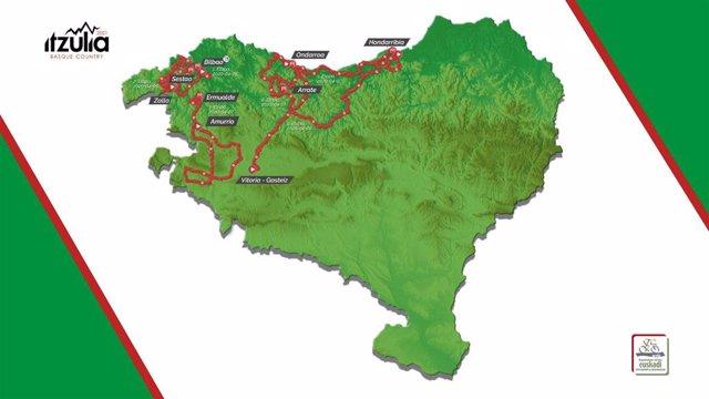 Recorrido de la 60ª edición de la Itzulia Basque Country, que se disputará entre el 5 y 10 de abril de 2021