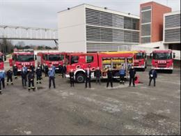 Bombers de la Generalitat renuevan su flota con 10 nuevos camiones tipo Bomba Rural Pesada.