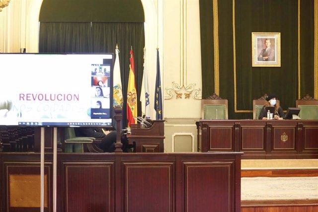 Pleno de la Diputación de Pontevedra.