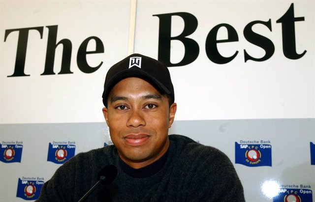 Archivo - Arxiu - Tiger Woods durant una roda de premsa