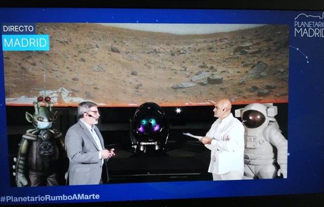 Actividad del Planetario de Madrid por el aterrizaje rover Perseverance de la NASA en Marte