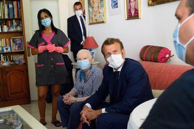 Archivo - El presidente francés, Emmanuel Macron.