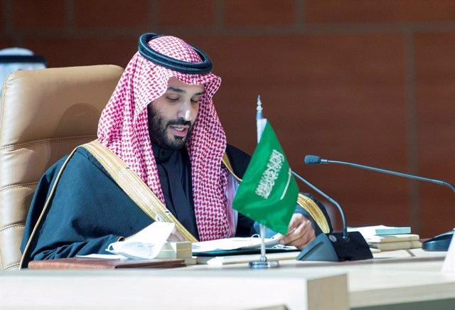 Archivo - 05 January 2021, Saudi Arabia, AlUla: Saudi Crown Prince Mohammed bin Salman chairs the 41st Gulf Cooperation Council (GCC) summit. Photo: -/Saudi Press Agency/dpa