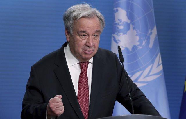Archivo - El secretario general de Naciones Unidas, António Guterres.