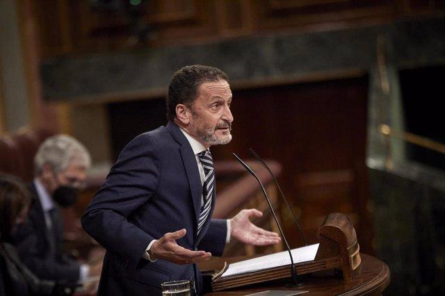 El portavoz adjunto de Ciudadanos en el Congreso de los Diputados, Edmundo Bal, interviene durante una sesión plenaria en la Cámara Baja.