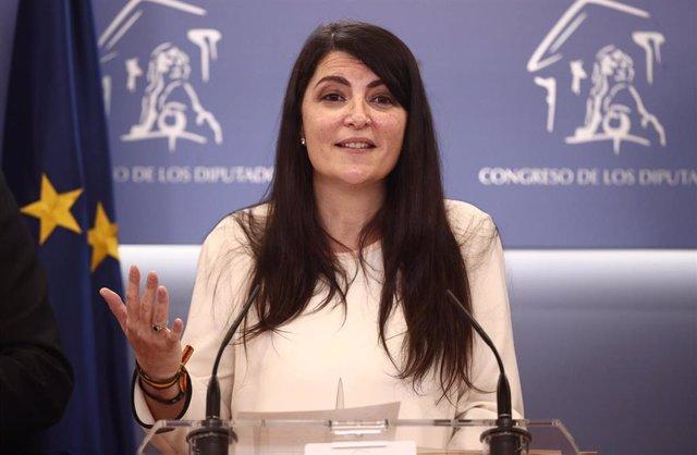 La portavoz de VOX en el Congreso, Macarena Olona