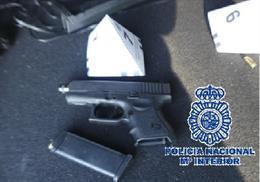 Arma intervenida a un conductor