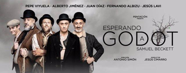 Cartel de la función 'Esperando a Godot'