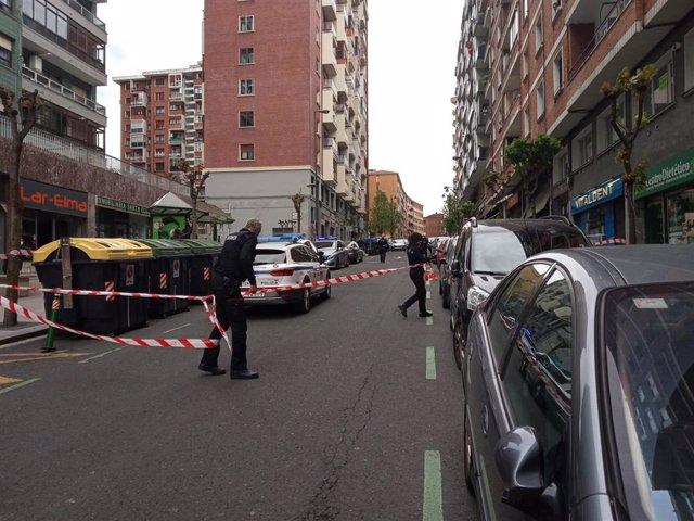 Archivo - Lugar donde se produjo el homicidio de Santutxu (Bilbao) en el que un octogenario acuchilló a otro, causándole la muerte en abril de 2020