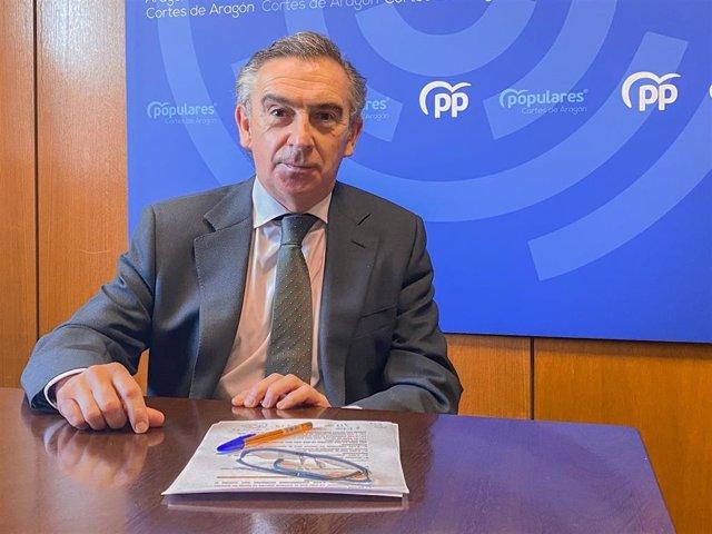 EL presidente del PP Aragón, Luis María Beamonte.