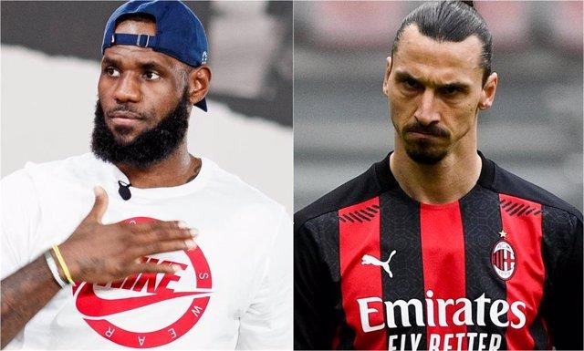 Archivo - LeBron James y Zlatan Ibrahimovic