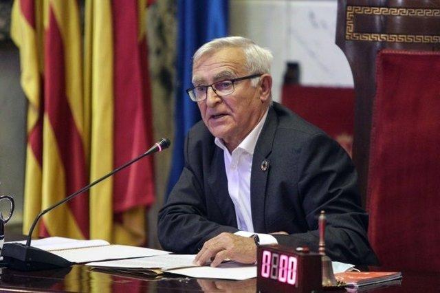 Archivo - El alcalde de València, Joan Ribó, durante el Debate sobre el Estado de la Ciudad.
