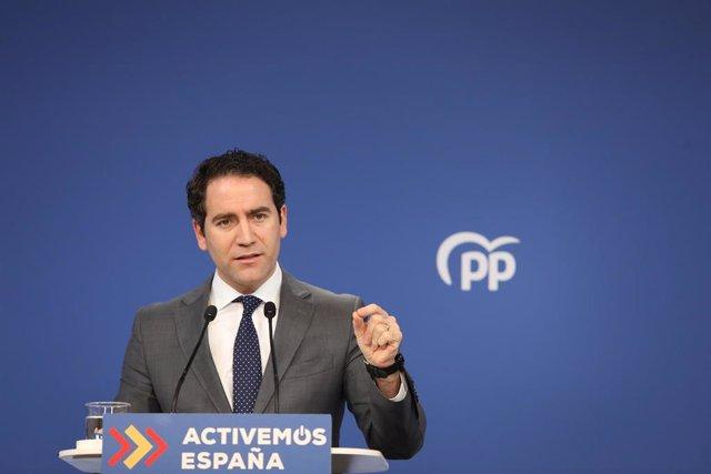 Archivo - El secretario general del Partido Popular, Teodoro García Egea.