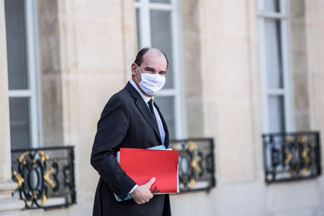 24 February 2021, France, Paris: French Prime Minister Jean Castex leaves the Council of Ministers after a meeting. Photo: Sadak Souici/Le Pictorium Agency via ZUMA/dpa