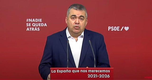 El secretario Ejecutivo de Coordinación Territorial, Relaciones PSOE Gobierno y presidente de la Fundación Pablo Iglesias, Santos Cerdán.