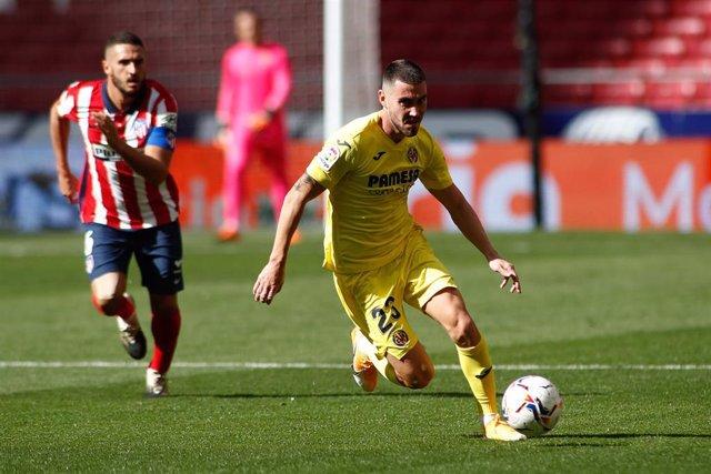 Archivo - Moi Gómez y Koke en un Atlético-Villarreal