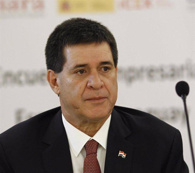 Archivo - El expresidente de Paraguay Horacio Cartes