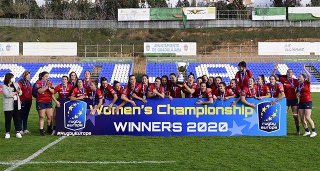 La selección española femenina de rugby, campeona de Europa