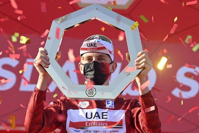 El ciclista esloveno Tadej Pogacar, campeón del UAE Tour 2021