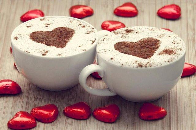 Café y corazón.