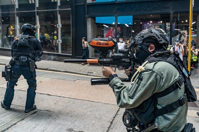 Archivo - Intervención policial en Hong Kong