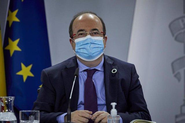 El ministro de Política Territorial y Función Pública, Miquel Iceta, en una foto de archivo.