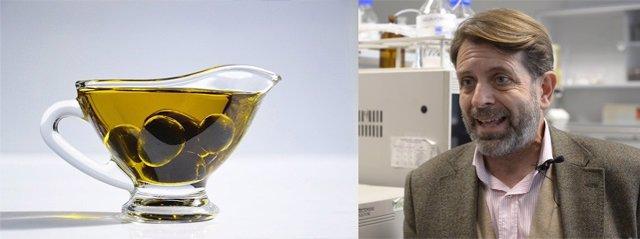 Wenceslao Moreda, investigador del Instituto de la Grasa del Consejo Superior de Investigaciones Científicas, investiga sobre el aceite de oliva.