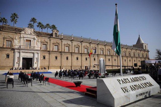 Pleno institucional del Parlamento de Andalucía por el 28F