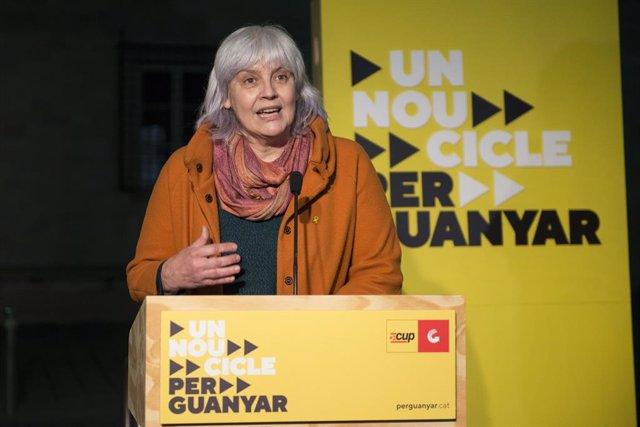 Archivo - Arxiu - La candidata de la CUP a la Presidència de la Generalitat, Dolors Sabater.