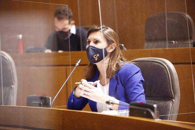 La portavoz de Ciudadanos en Industria, Competitividad y Desarrollo Empresarial, Jara Bernués.