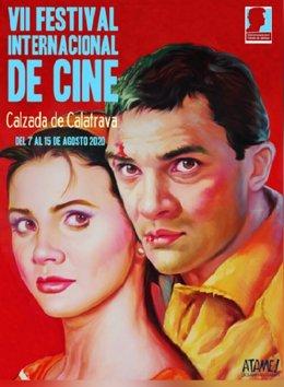Cartel del Festival Internacional de Cine de Calzada de Calatrava 2021.