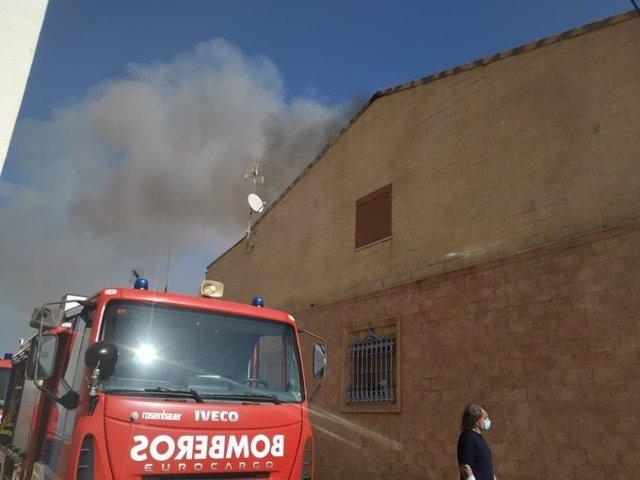 Incendio en una vivienda en Campillo de Llerena.