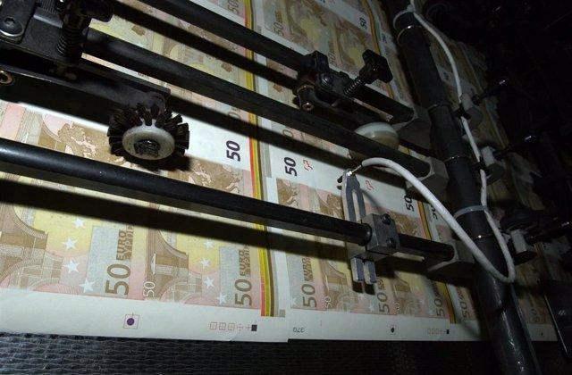 Archivo - Fabricación De Billetes De Euros En La Fábrica Nacional De Moneda Y Timbre