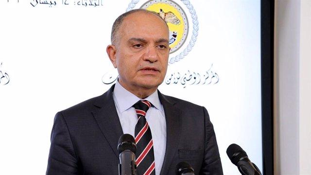 Archivo - El ministro Portavoz del Gobierno de Jordania, Amyad Adailé