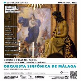 Cartel concierto de marchas procesionales de la OSPM