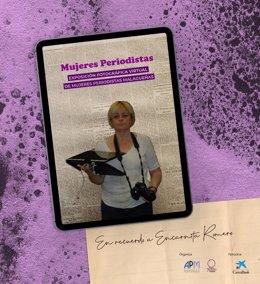 Cartel de la exposición virtual organizada por la Asamblea de Mujeres Periodistas de Málaga